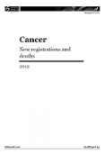 Cancer: New registrations and deaths 2013.