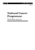 National Cancer Programme Work Plan 2014/15