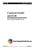Content Guide 2017/18: New Zealand Health Survey