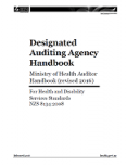 Designated Auditing Agency Handbook cover