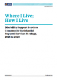 Disability Support Services Community Residential Support Services Strategy.
