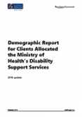 Demographic Report for Clients Allocated the Ministry of Health's Disability Support Services: 2018 update.
