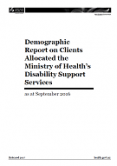 Demographic Report on Clients Allocated Disability Support Services.