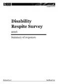 Disability Respite Survey 2016.