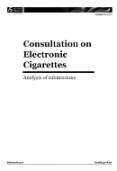 Consultation on Electronic Cigarettes: Analysis of submissions