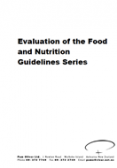 Evaluation of the Food and Nutrition Guidelines Series cover