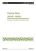 Faiva Ora 2016–2021 National Pasifika Disability Plan