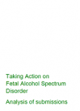 Taking Action on Fetal Alcohol Spectrum Disorder: Analysis of submissions.