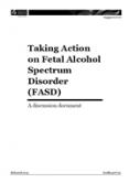 Taking Action on Fetal Alcohol Spectrum Disorder