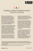 Cover page of the Funding to Māori Health Providers 2015/16 to 2019/20 report