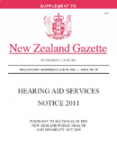 Hearing Aid Services Notice 2011 thumbnail