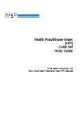 Health Practitioner Index Code Set.