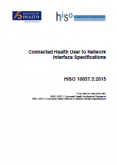 Connected Health User to Network Interface Specifications.