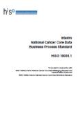 Interim National Cancer Core Data Business Process Standard.