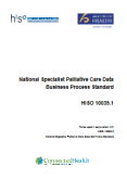 National Specialist Palliative Care Data Business Process Standard.