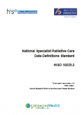 National Specialist Palliative Care Data Definitions Standard.