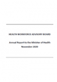 Health Workforce Advisory Board 2020 Annual Report.