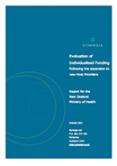 Evaluation of Individualised Funding.
