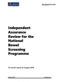 Independent Assurance Review for the National Bowel Screening Programme.