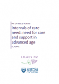 Intervals of care need: Need for care and support in advanced age.