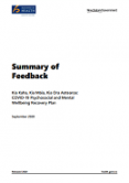 Summary of Feedback: Kia Kaha, Kia Māia, Kia Ora Aotearoa.