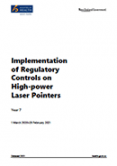 Implementation of New Regulatory Controls on High-Power Laser Pointers: Year 7.