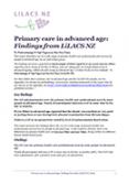 Primary care in advanced age.