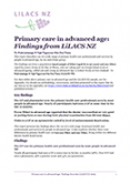 Primary care in advanced age.