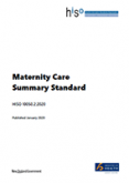 Maternity Care Summary Standard.