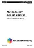 Methodology Report 2015/16: New Zealand Health Survey.