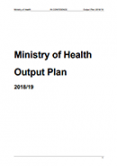 Ministry of Health Output Plan 2018/19.