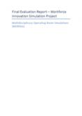 Multidisciplinary operating room simulations evaluation report