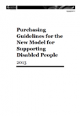 Purchasing Guidelines for the New Model for Supporting Disabled People
