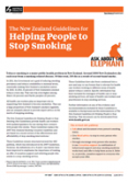 The New Zealand Guidelines for Helping People to Stop Smoking cover