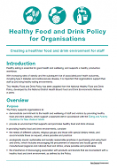 Healthy Food and Drink Policy for Organisations