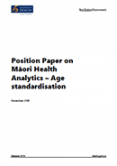 Position Paper on Māori Health Analytics – Age Standardisation.