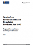 Smokefree Environments and Regulated Product Act 1990 Proposals for regulations: Summary of submissions 2021.