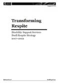 Transforming Respite cover.