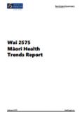 Wai 2575 Māori Health Trends Report.